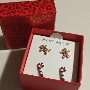 Betsey johnson Christmas pack earrings